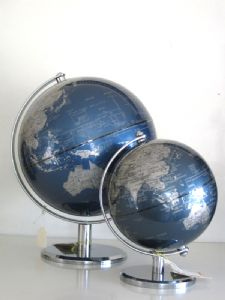 Decorative Blue World Globe Available in 2 Sizes.